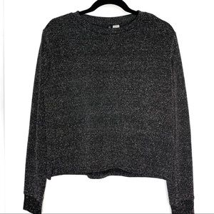 Divided sz S shimmery black sweater